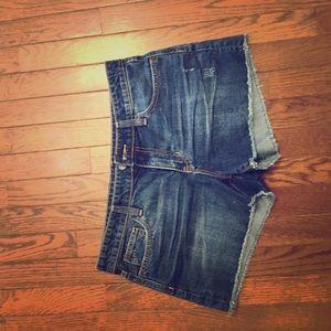 Gap Factory Distressed Jean Shorts